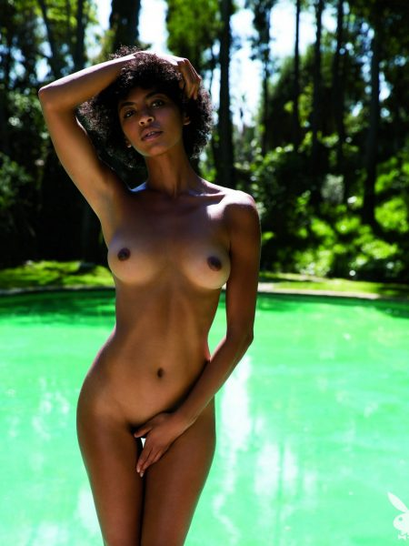 Jessi M'Bengue nude for Playboy