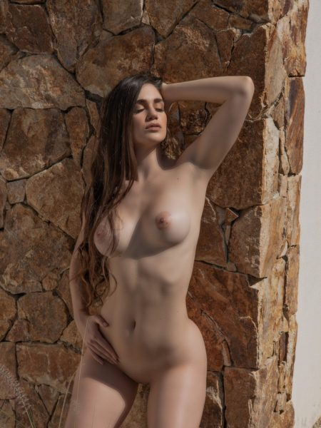 Rosé in Neon Energy nude for Playboy