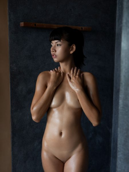 Cara Pin in Soft Shower nude for Playboy
