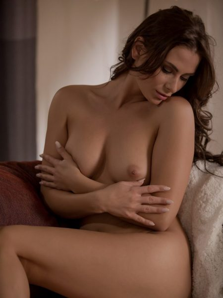 Cosmo in Sensual Comforts nude for Playboy