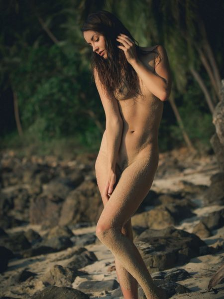 Elilith Noir in Beach Love nude for Playboy