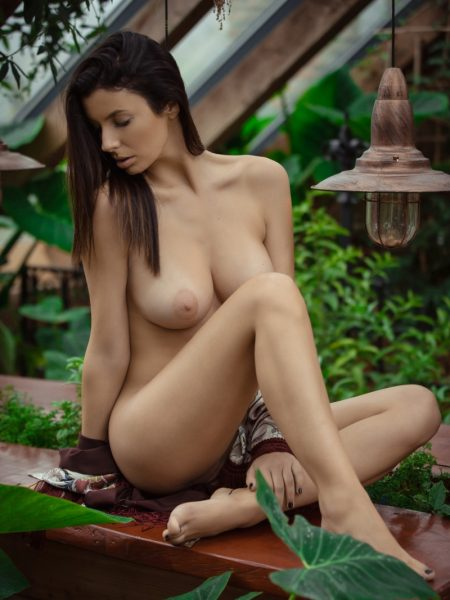 Katey in 100% Natural nude for Playboy