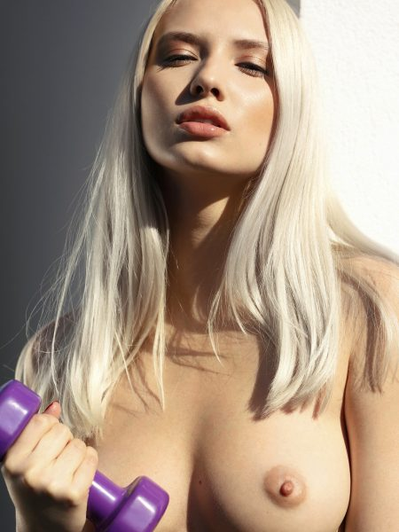 Monica Wasp in Platinum Blonde nude for Playboy