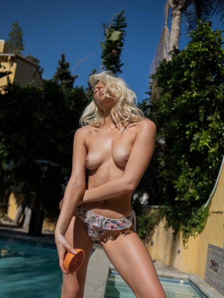 Emilee Ann Miller in Sipping on Champagne nude for Playboy