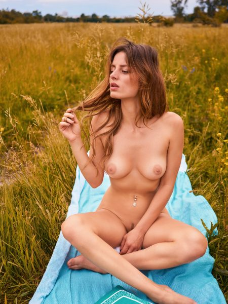 Jeany Waldheim in June Playmate nude for Playboy