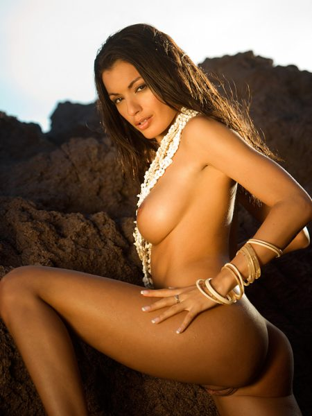 Jo Garcia in Tough nude for Playboy