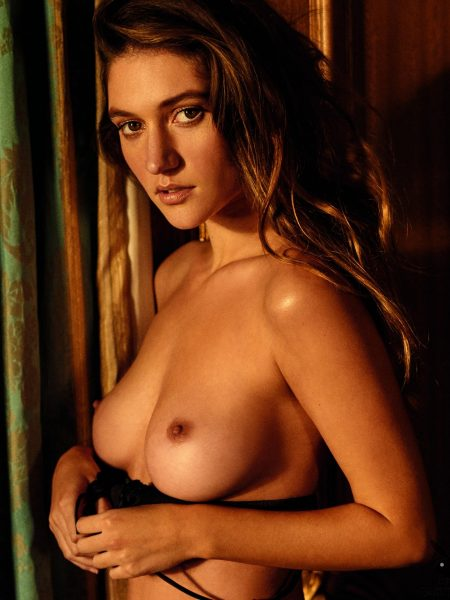 Elizabeth Elam nude for Playboy